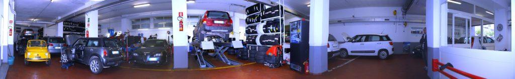 Autoparioli panoramica officina meccanica centro gomme Roma