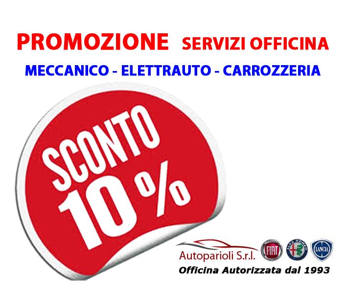 Sconto del 10% | Officina | Meccanico | Elettrauto | Carrozzeria | Roma |