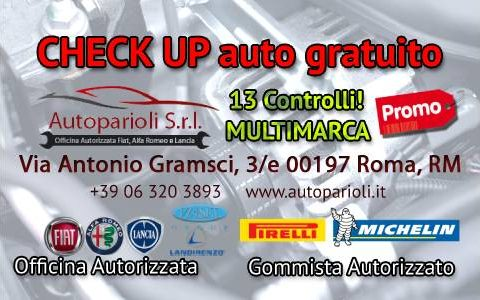 | Controllo Auto | Check  up | Gratuito | Roma | Estate 2019  | Multimarca | Fiat | Alfa Romeo |  Lancia |